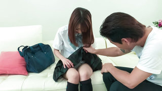 Great time with an appealing Japanese schoolgirl image