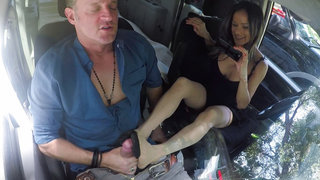 Quick foot job on the road image