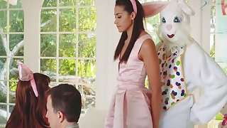 Cute teen Avi_surprises easter bunny_with wet pussy image