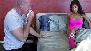 Stepdad loves to sniff her panties_before fucking_her image