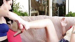 Experienced MILF Dana fingering and rimming lovely Veruca image