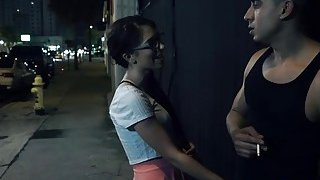 Nerdy teen Joseline Kelly gets kidnapped and forced to_deepthroat hard cock image