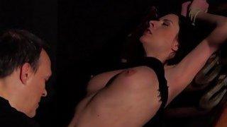 BDSM Hardcore Spanking Sex slave swallows cum sex image