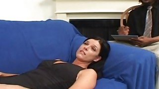 A horny black therapist fucks hot white_MILF's pussy as hard as he can image