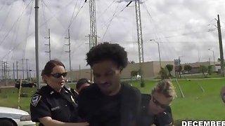 Image: BBW dirty mouth police cops savoring big black cock suspect outdoor