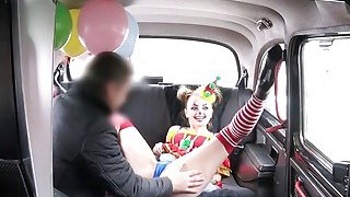 Image: Clown babe squirts and fucks in fake taxi