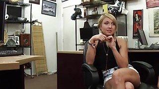 Image: Amateur blonde sucks cock in pov style