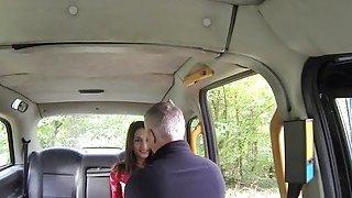 Big nose amateur babe bangs_in fake taxi image
