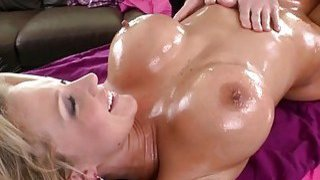 Image: Lubed up doxy is massaged by her lover and fucked