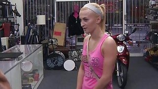 Blondie amateur Sadie Leigh tries to sell a scooter and gets banged image