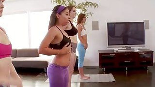 Image: Yoga class with four teens turns into a groupsex party