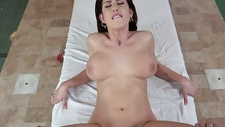 Busty babe Aida Swinger wants to fuck her masseur image