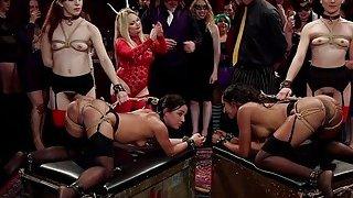 Group of hot slaves_serving at kink ball image