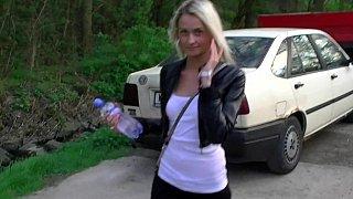Image: Outdoors BJ blonde
