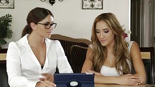 Beautiful lesbian teens Chloe Amour and Aspen Rae in hot_action image