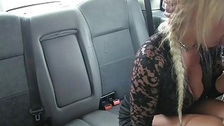 Image: Busty blond mature fucked by the driver to off her fare