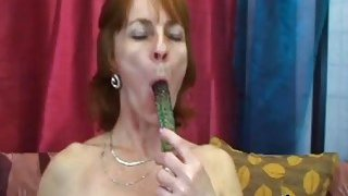 Slutty mature woman Ivet plays with a sex toy before blows hard cock_and gets banged image
