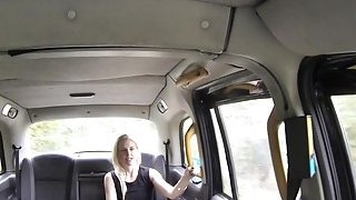Blonde got foot in the ass in fake taxi image