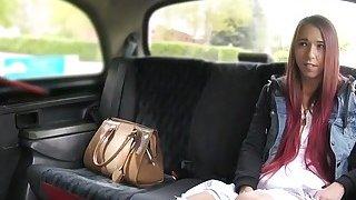 Fake taxi driver bangs slim_Euro student image