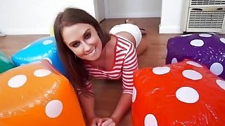 Image: Delicious hot brunette fucked hard in room with dices