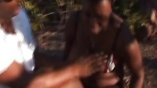 Image: Nipple torment spanking and rough blowjob with African slut