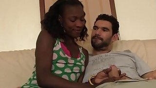 Slutty African babe gets banged in doggy style image