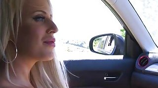 I am lucky there is a horny busty pornstar in my car image