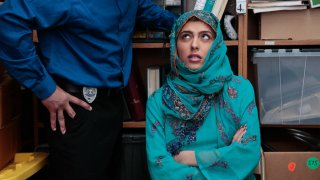 Teen caught concealing goods in her Hijab image