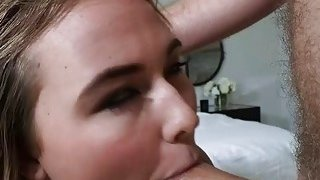 Hot blonde gf gets banged in her tight lubed up asshole image