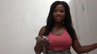 Black Babe Monique Symone_Gives Glory Hole Blowjob image