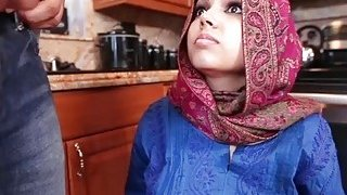 Only muslim skiny ~ Obedient muslim exchange student creampied deep in her arab cunt image