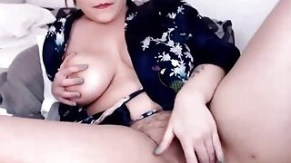 Image: Busty hot chubby hairy_pussy toying fingering on webcam