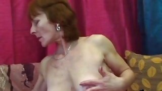 Ivet horny granny in stockings gets banged by younger guy image