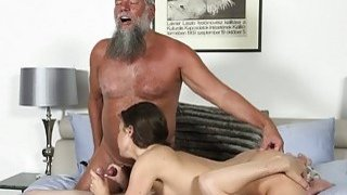 Old Young_Porn Group fucked Teen Takes 2 grandpa image