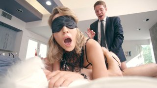 Blonde Lily LaBeau getting_double penetrated image