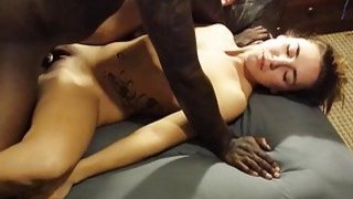 Image: Cuckold films his skinny wife being impaled by black boner
