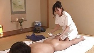 JAV wife Manami Komukai_CFNM rimjob massage clinic image