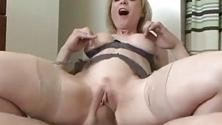 Image: Glamorous blonde mom can't wait to fuck her boy toy