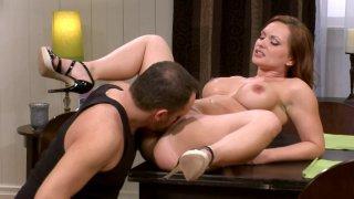 Kneading katja_kassin's massive tits before drilling her_pink muff ◦ massive tits training session 3d porn image