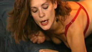 Brunette MILF In Black Stockings_Anal_Fucked image