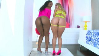 Chanell Heart and Candice Dare shows off their desirable asses image
