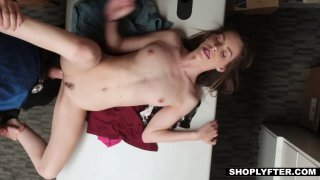 Forced to fuck a cock by the law's hard hand image