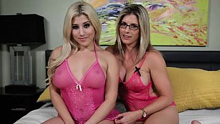 Pretty blondes in pink image