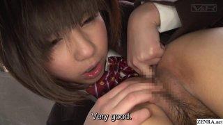 JAV lesbian schoolgirls CFNF cunnilingus Subtitled image