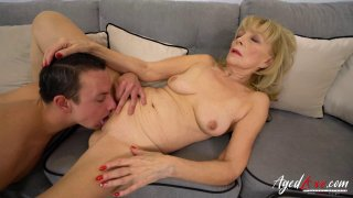 AgedLovE Blonde Mature Fucked Hard By Youngster image