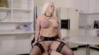 Huge breasted Alura Jenson gets fucked in the kitchen image