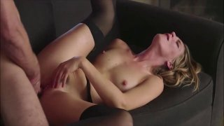 Good looking MILF in stockings pussy fucked hard and fast image