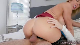 Image: Amazing milf hd and petite blonde fucked She got home from work ready