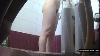showering Asian Mom_on spy camera image