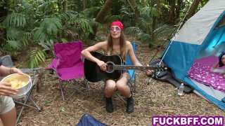 Camping_teens_share_a_big_cock_in_a_tent_in_the_woods image